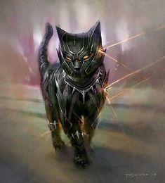 Imagine Marvel superheroes as cats Black Panther as a cat Love Marvel? Check out our Sortable Avengers Fanfiction Rec List – fanfictionrecomme… Marvel Avengers, Marvel Comics, Marvel And Dc Superheroes, Marvel Art, Marvel Memes, Black Panther Marvel, Black Panther Art, Panther Cat, Baby Panther