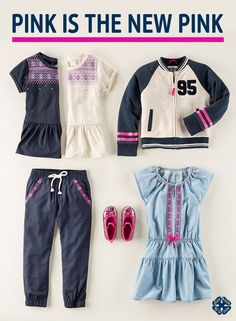 Our new pink is here with so many ways to wear and pair! Have fun with pink details. A pocket detail here, a sparkly stripe there and she& ready for first day pics. Shop the new pink at OshKosh. Little Girl Fashion, Toddler Fashion, Teen Fashion, Fashion Outfits, Kids Outfits, Cool Outfits, Stylish Kids, Pocket Detail, Toddler Girl