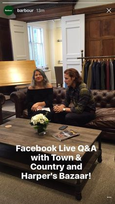 NEW Pics of Sam Heughan At Barbour Facebook Q and A | Outlander Online