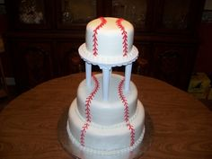 Baseball wedding cake By Lesia on CakeCentral.com