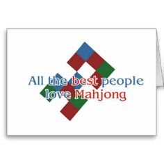 funny photos of mah jong | Mahjong Lover's greetings Greeting Card