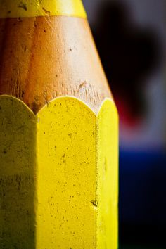 A Giant Yellow Pencil by Hani*, via Flickr