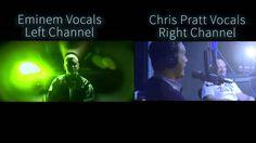 Chris Pratt vs Eminem Vocal Sync Comparison - Forgot About Dre