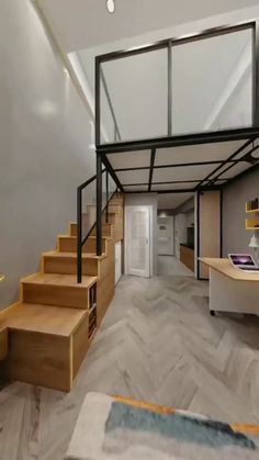 Loft House Design, Modern Small House Design, Small House Interior Design, Small Apartment Design, Small Room Design Bedroom, Home Room Design, Home Design Plans, Small Apartment Bedrooms, Small Apartments