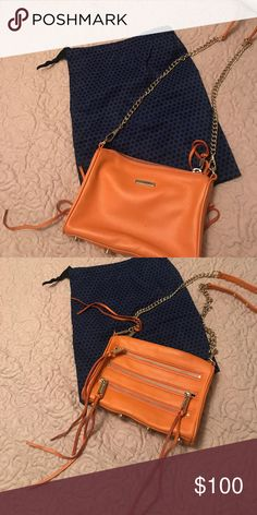 Rebecca Minkoff purse Orange purse barely used. Excellent condition. Comes with dust bag Rebecca Minkoff Bags Crossbody Bags