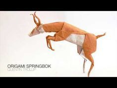 This is the elegant origami springbok, gazelle by Quentin Trollip! This model is made of the typical Quentin Trollip folding sequence, you will recognize it . Bullet Jewelry, Geek Jewelry, Gothic Jewelry, Jewelry Necklaces, Sewing Bras, Corset Pattern, Pattern Sewing, Altoids Tins, Operation Christmas Child