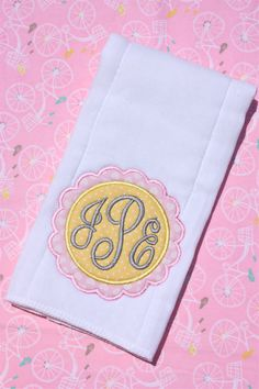 Personalized Embroidered Burp Cloth - monogrammed - baby gift - cloth diaper - appliquéd