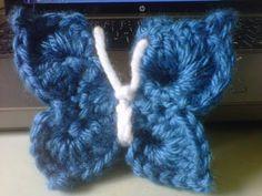 How to crochet an Easy 3D butterfly / NOT flat, 3D