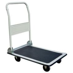 PRO-SERIES, 330 lbs. Capacity Steel Folding 4-Wheeled Platform Truck in White, 800821 at The Home Depot - Mobile $50