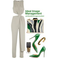 A fashion look from September 2015 by jamilia-wallace featuring Halston Heritage, Christian Louboutin, KOTUR and Gucci