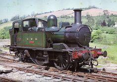 Classic G.W.R. branch line locomotive, 1420 was built in 1933. Still at Buckfastleigh on the South Devon Railway.