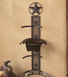 """A Lone Star Western Decor Exclusive – Classic western stars are mounted on this metal and metal mesh cowboy hat rack for handy over-the-door storage. Measures 11""""W x 9""""D x 34 1/4""""H. ~ Video Converter WL 50 White Label License to our best selling """"Video Converter""""... more details available at https://furniture.bestselleroutlets.com/entryway-furniture/coat-racks/product-review-for-lone-star-rustic-cowboy-hat-rack-southwestern-decor/"""