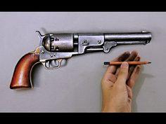 "Time Lapse: a quick drawing ""revolver"" - hyper-realistic art ""Fabiano Millani"" - YouTube"