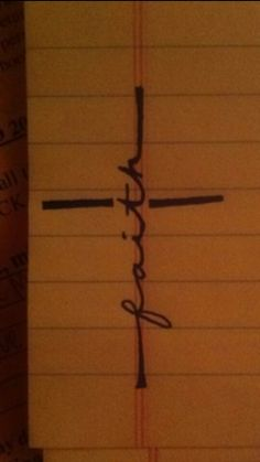 Faith <3 would make a fantastic tattoo | This is perfect for my Grandma. Her faith was ever so strong