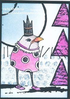 Ook weer VLVS Whimsical Beaked Guy in Crown en plate 1455.