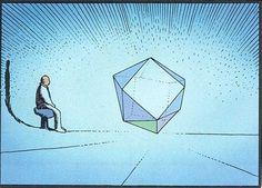 Il passait de longues heures a contempler le cristal qui palpitait au coeur du vaisseau Moebius