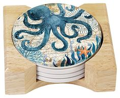 CounterArt Absorbent Coasters in Wooden Holder, Monterey Bay Octopus, Set of 4 CounterArt http://www.amazon.com/dp/B00RXUZOOM/ref=cm_sw_r_pi_dp_4.W-vb1P53SBJ