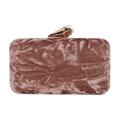 Coast Wray Velvet Box Clutch Bag ($53) ❤ liked on Polyvore featuring bags, handbags, clutches, hard clutch, evening handbags, faux-leather handbags, handbag purse and box clutch