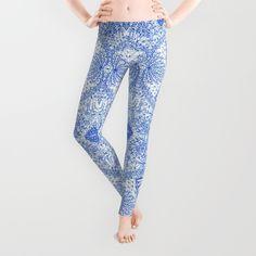SOLD Leggings Mehndi Ethnic Style G338! #Society6 #leggings #Mehndi #Ethnic #doodle #Style #drawing #indian #blue #white https://society6.com/product/mehndi-ethnic-style-g338_leggings#56=417