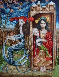 Toledo del Rio hails from a family of Cuban artists. He considers his creations a form of magical realism, evoking dreams, fantasy and magic through the. Magic Realism, Whimsical Art, Fantasy World, Contemporary Artists, Art Forms, Nashville, Abstract Art, Illustration Art, My Arts
