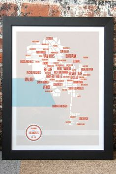 Los Angeles Neighborhoods Map by These are Things on @HauteLook $65