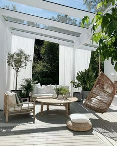 Don't be tempted to overspend when creating the perfect outdoor space. The large backyard landscaping ideas can get costly quickly if you're not careful. Outdoor Rooms, Outdoor Living, Outdoor Decor, Outdoor Furniture, Patio Interior, Interior And Exterior, Backyard Patio, Backyard Landscaping, Exterior Design
