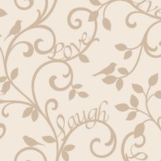 Coloroll Utopia Bird and Butterfly Wallpaper in Gold M