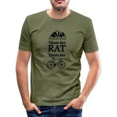 FAHRRAD, T-SHIRT, GESCHENK, UMWELTSCHUTZ, VELO - Männer Slim Fit T-Shirt