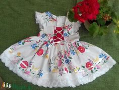 Kalocsai mintás lanyka ruha (peteryeva) - Meska.hu Girls Dresses, Flower Girl Dresses, Summer Dresses, Lany, Wedding Dresses, Fashion, Summer Sundresses, Bridal Dresses, Moda