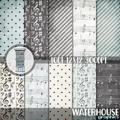 #digital #music #paperpack #scrapbooking #grunge #background #musicnotes #papers