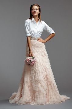 We love this unique and modern look! Watters, Spring 2014
