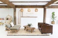 reception area for fresh boho brand spell & gypsy | coco kelley