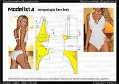 Best 12 DIY – molde, corte e costura – Marlene Mukai Dress Sewing Patterns, Clothing Patterns, Sewing Clothes, Diy Clothes, Costura Fashion, Swimsuit Pattern, Sewing Lingerie, Modelista, Beachwear