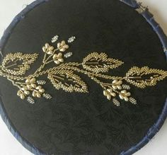 Wonderful Totally Free Beadwork embroidery Ideas Twine tension can produce a enormous have an effect on the way your necklaces looks. No-one desires to expend Zardozi Embroidery, Hand Embroidery Dress, Embroidery Neck Designs, Tambour Embroidery, Bead Embroidery Patterns, Couture Embroidery, Bead Embroidery Jewelry, Gold Embroidery, Beaded Jewelry Patterns