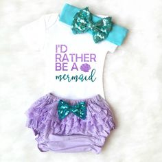Mermaid Onesie Baby Girl Clothes Baby Girl by KennedyClairesCloset