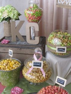 Flavored Popcorn available in 15 delicious flavors and sold in Bulk for large parties and popcorn at weddings Wedding Popcorn Bar, Wedding Buffet Menu, Wedding Favor Labels, Wedding Favors, Red Carpet Party, Flavored Popcorn, Birthday Cakes For Men, Dessert Bars, Serving Size