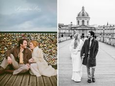 Photographs of a couple eloping in Paris and placing love locks on the Pont des Arts bridge by Paris wedding photographer Stacy Reeves