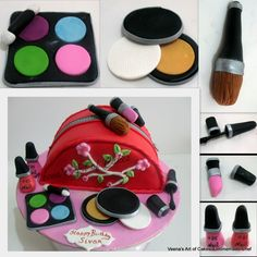 Veena's Art of Cakes: Make-up Bag Cake Tutorial