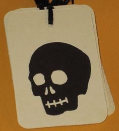 10 Gift Tags Halloween Skulls by Judyscrafts on Etsy