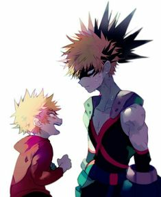 Bakugou Katsuki, young, childhood, different ages, time lapse, funny, hero, suit, uniform, outfit; My Hero Academia
