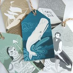 Moby Dick gift tags.