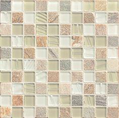 Elume - SILVER Glass Mosaic - GLSELM0101-CH   Bedrosians Tile & Stone