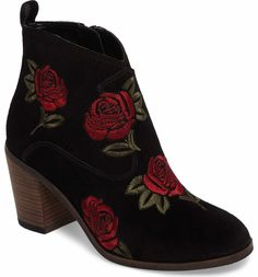4fae5b47e32 Main Image - Lucky Brand Pexton Embroidered Bootie (Women) Lucky Brand  Shoes