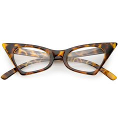 9a8eecf075 1950 s Vintage Mod Fashion Cat Eye Clear Lens Glasses 8435