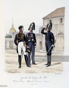 'GardesduCorps de Roi MédécinMajor MaréchalVétérinaire and Piqueur' 182030 Histoire de la Maison...