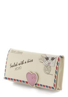 so flippin cute Everyday in a Letter Wallet, #ModCloth