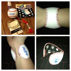 Jessica and Brittany!!!! Baseball cuff bracelet