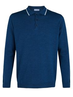 García Madrid. Blue polo shirt.  #Fashion #Men #Shirt