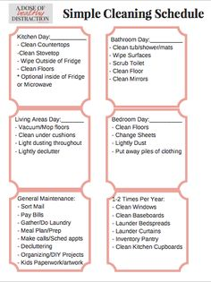 Your Game Plan for A Stress Free House Cleaning Schedule - Home Cleaning Routine Weekly Cleaning, Deep Cleaning Tips, House Cleaning Tips, Diy Cleaning Products, Spring Cleaning, Cleaning Hacks, Cleaning Wipes, Cleaning Schedules, Cleaning Calendar