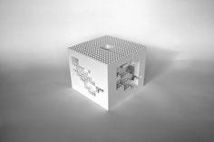 Lego sculpture - sculpted cube